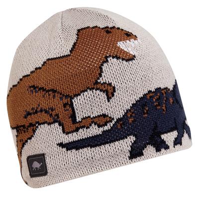 Turtle Fur Kids Jurassic Dinosaur Winter Beanie Hat Natural