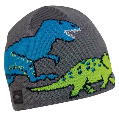 Turtle Fur Kids Jurassic Dinosaur Winter Beanie Hat Gray