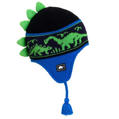 Turtle Fur Kids Dr. Dino Dinosaur Earflap Winter Hat Royal