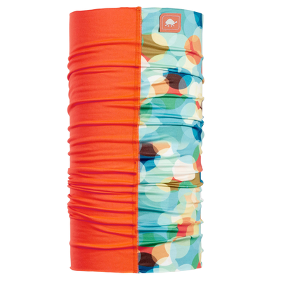 Turtle Fur Totally Tubular Comfort Shell Tube Neck Gaiter Bandana Orange Marbleade Color Block