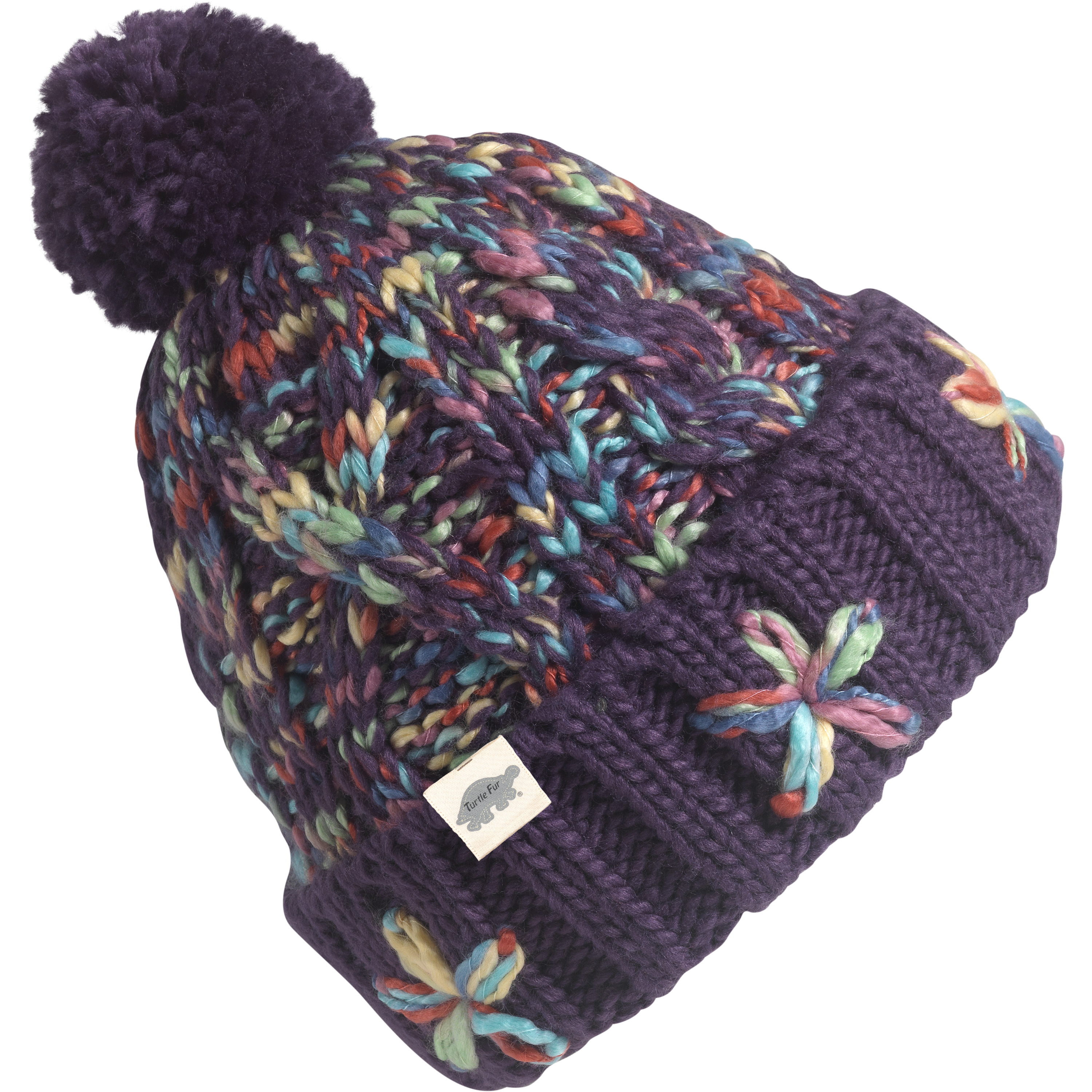 286c54c68dd Turtle Fur Vine With Me Girl s Chunky Hand Knit Pom Winter Hat
