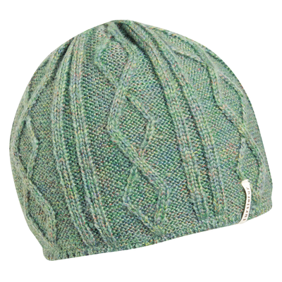 Turtle Fur Womens Monica Sherpasoft Fleece Lined Cable Knit Beanie Sage