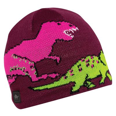 Turtle Fur Kids Jurassic Dinosaur Winter Beanie Hat Berry