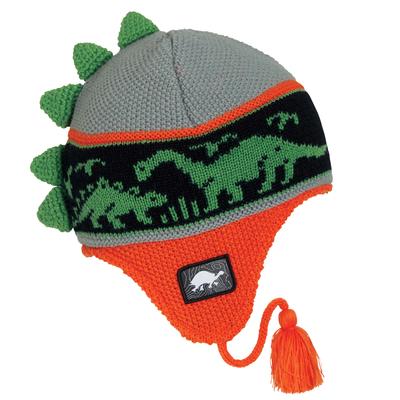 Turtle Fur Kids Dr. Dino Dinosaur Earflap Winter Hat Fire