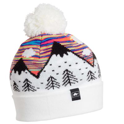 Turtle Fur Kids Mountain Dreamer Pom Winter Ski Hat Rainbow
