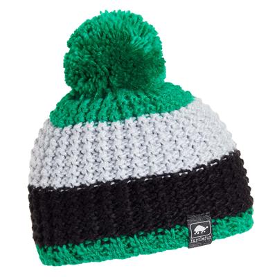 Turtle Fur Kids Champ Pom Winter Ski Hat Green