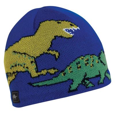 Turtle Fur Kids Jurassic Dinosaur Winter Beanie Hat Royal