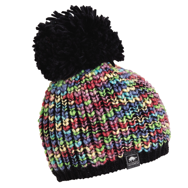 ec7c6548f82 Turtle Fur Yvonne Women s Variegated Yarn Fleece Lined Pom Winter ...