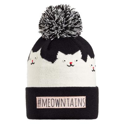 Turtle Fur Kids Meowntains Cat Winter Hat Black