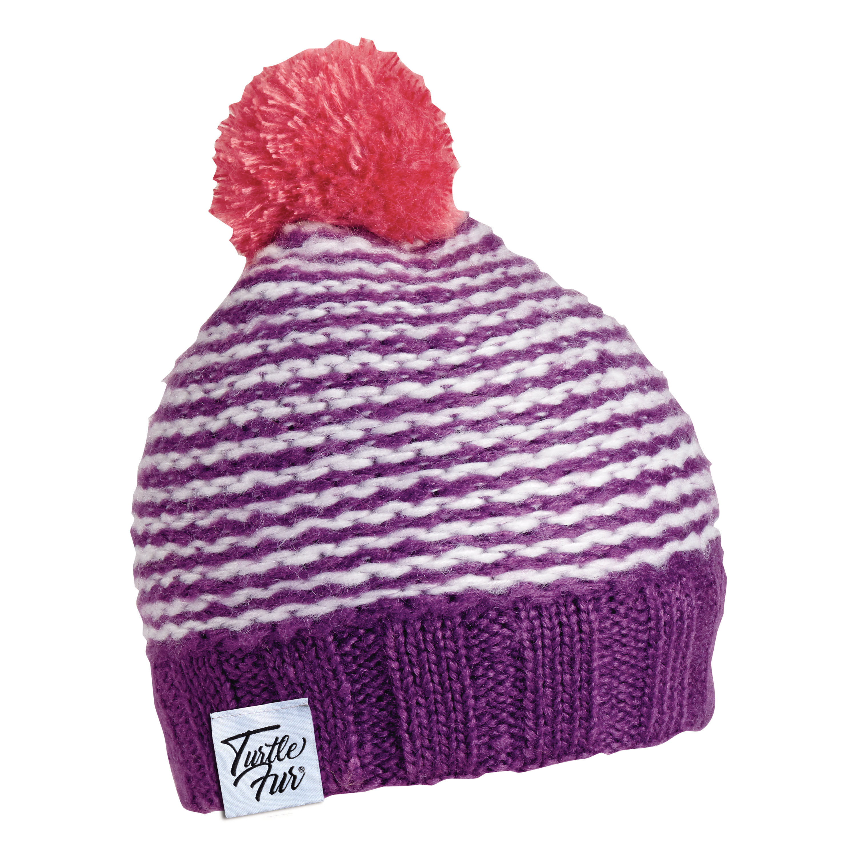 a896786f8b9 Turtle Fur Shmee Poof Girl s Knit Pom Winter Hat