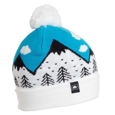 Turtle Fur Kids Mountain Dreamer Pom Winter Ski Hat Turquoise