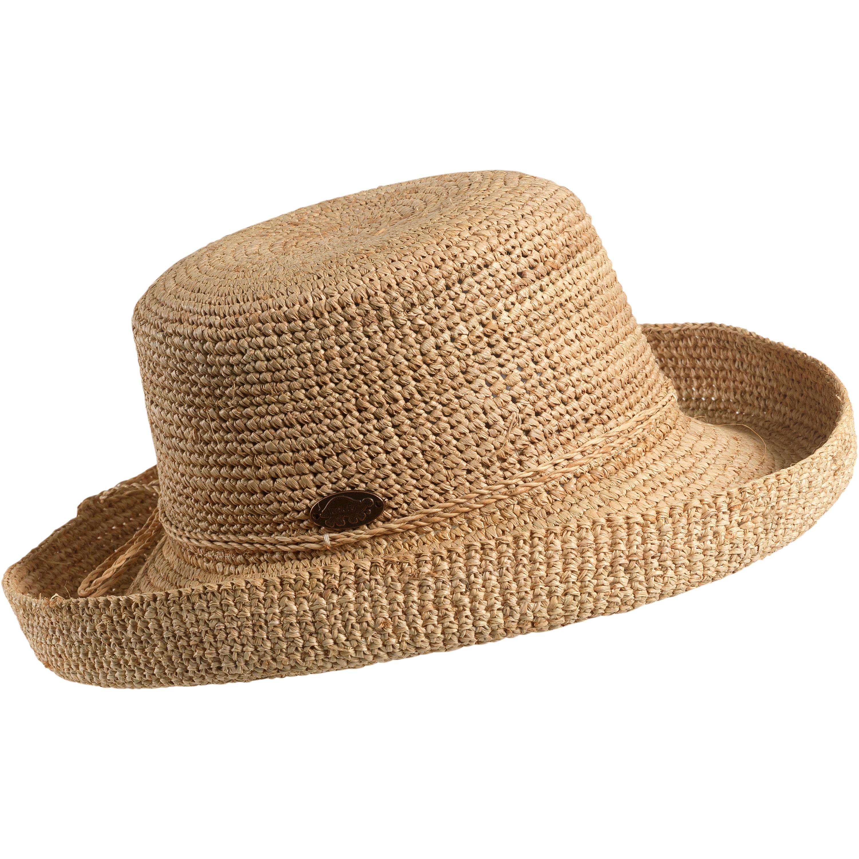 Turtle Fur Sun Walker Straw Hat Crocheted Curved Brim Women\'s Sun ...
