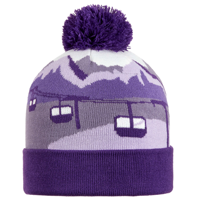 Turtle Fur Kids Gondy Pom Winter Ski Hat Purple